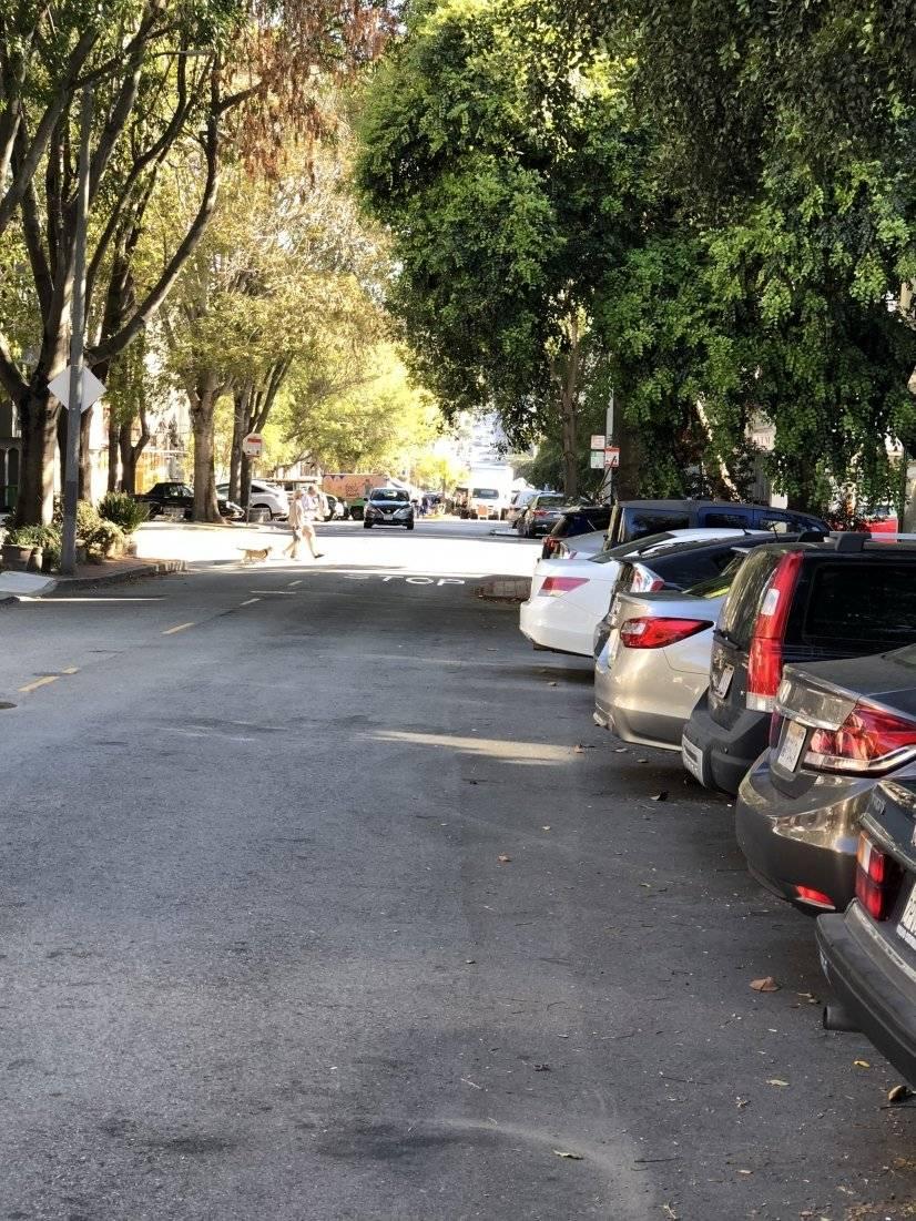 our block, looking toward Market street