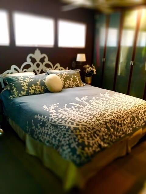 King size master bedroom -tons of closets and ensuite
