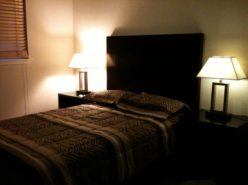 Guest bedroom with walk-in closet