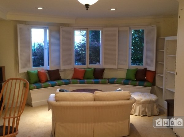 Window seats in living room