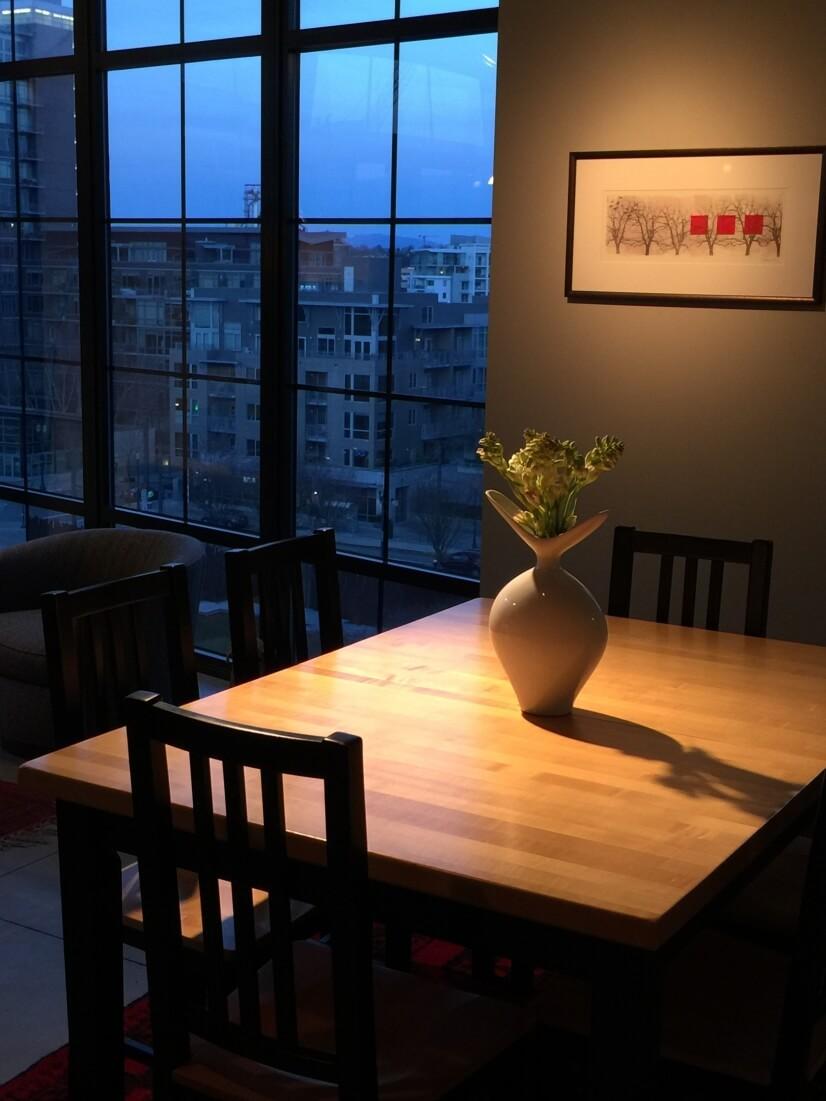 Dining at evening