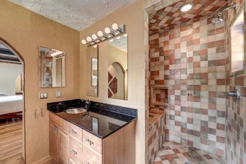 Master Bath with shower and direct pool acces