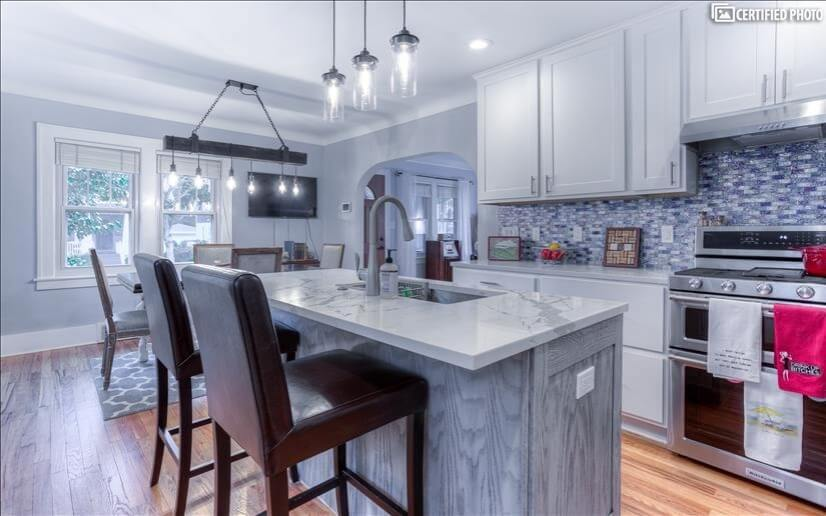 Kitchen island with bar seating,new Kitchen A