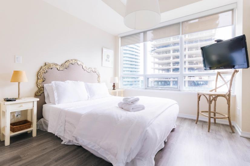 Master Bedroom with Queen size Bed, foam mattress