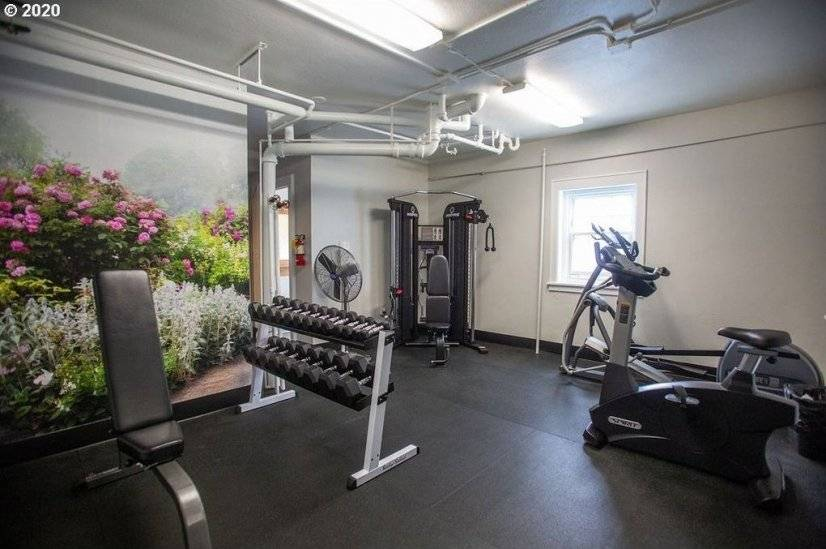 Gym inside building