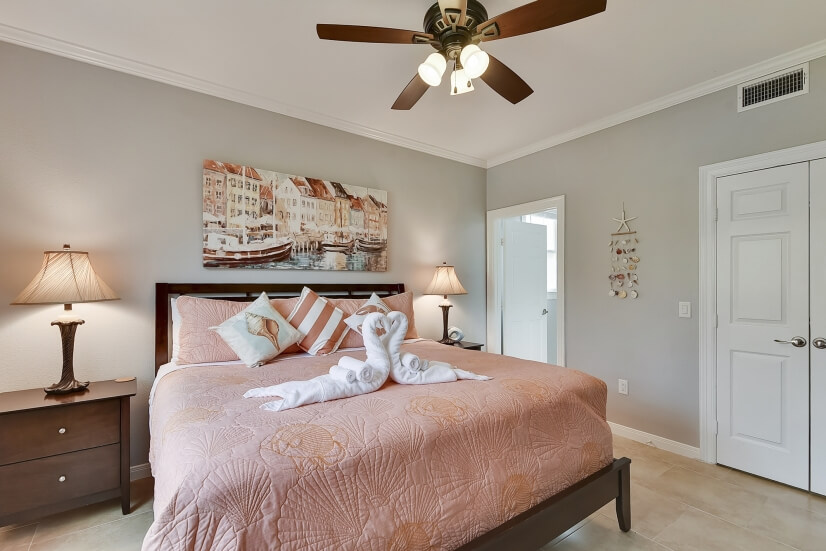 Master Bedroom Offers Direct Bath Access & Walk-In Closet