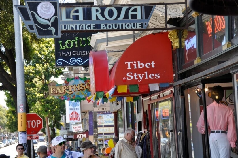 One block from world-known popular Haight Street shops