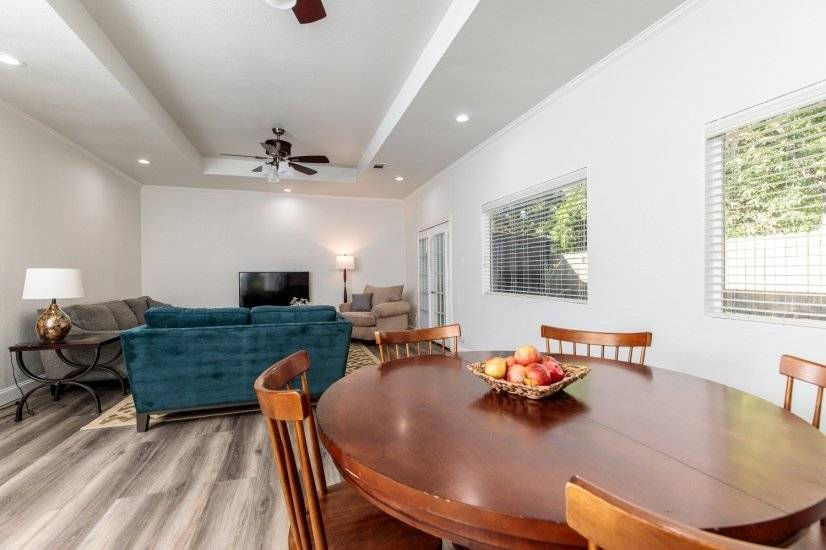 Dining to living space.