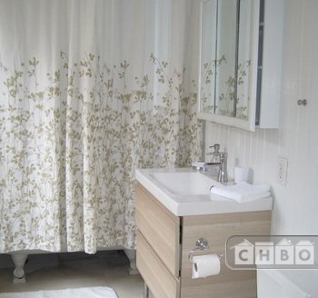 remodeled bathroom with brand new fixtures and claw-foot tub