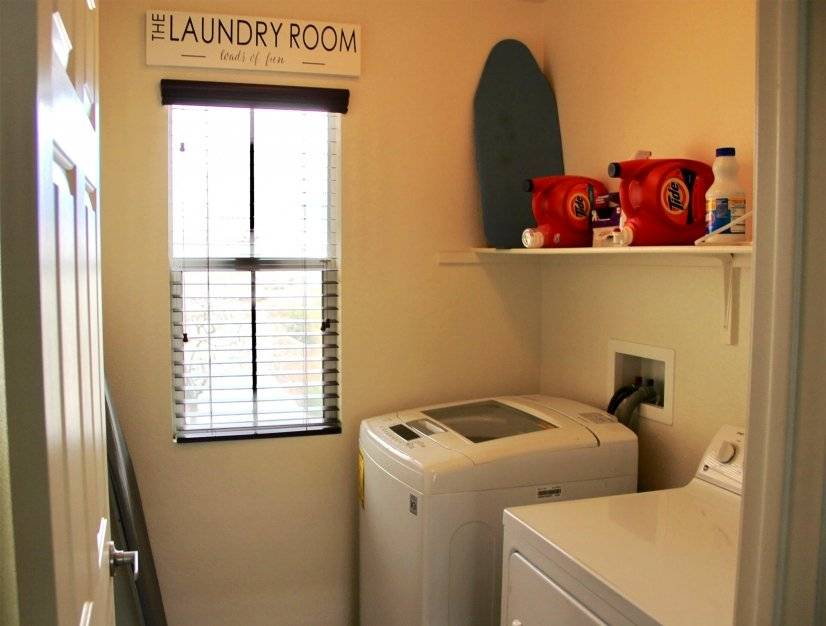 Washer and dryer are included to meet your laundry needs.