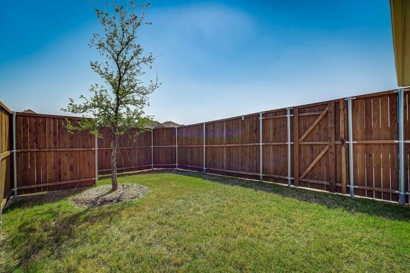 Fenced in Backyard