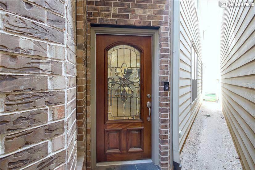 Front door with Ring doorbell