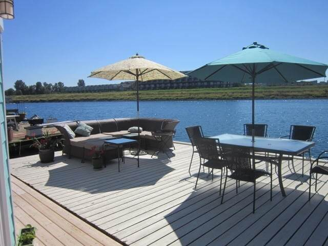 Deck on Columbia River