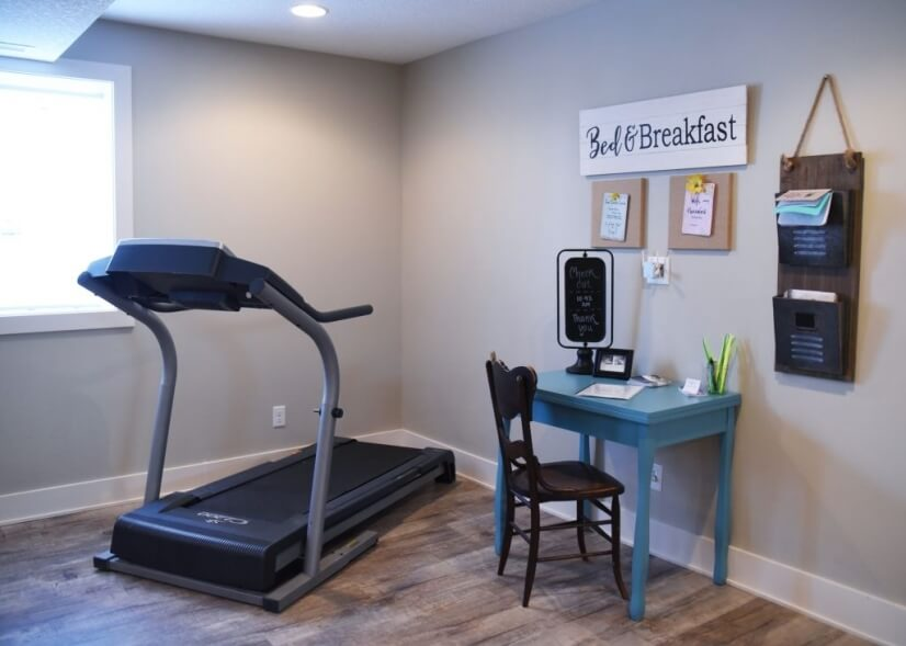 Workout & office nook off dinning area