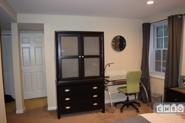 Sunny Desk Area and Large Armoire