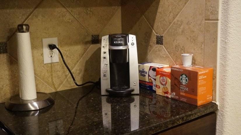 Keurig coffee maker with starter supplies