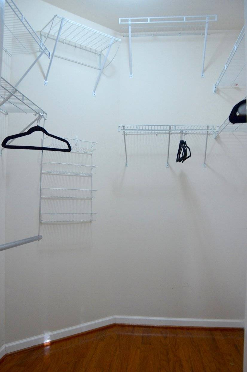 Walk-in closets in master & guest bedroom