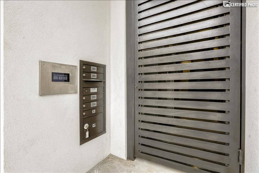 Private, gated entry for residents
