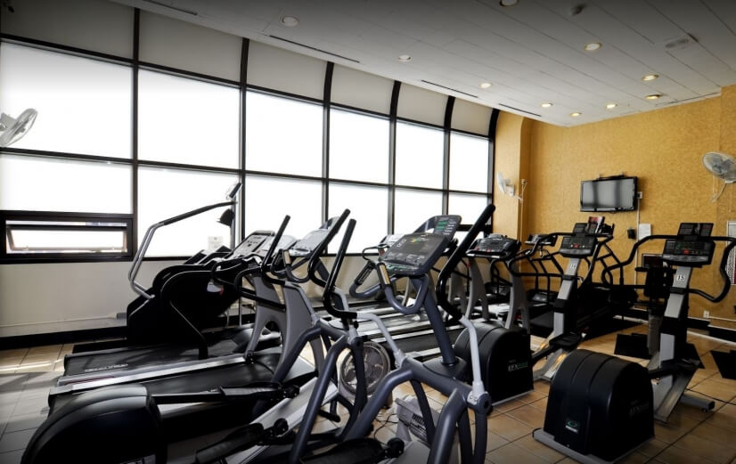 Perfect cardio room for to keep fit in with a weight room