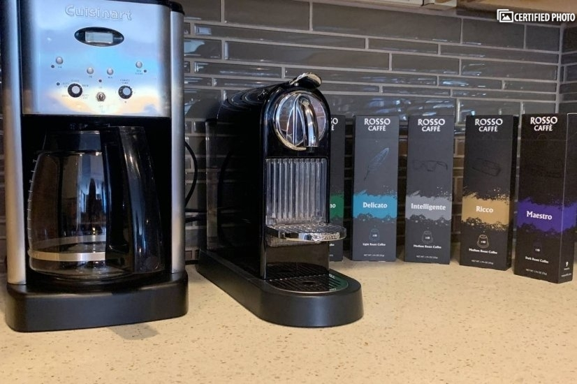 Fully equipped with new appliances; coffee pot and espresso!