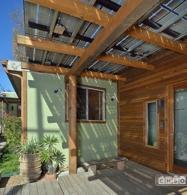 detail of solar porch