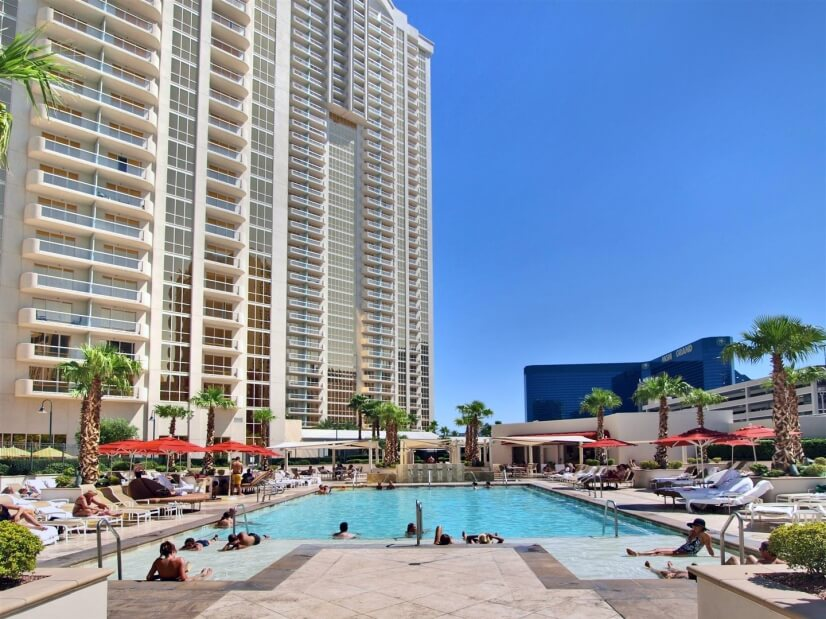Tower pool area