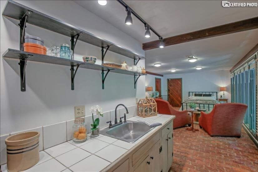 Separate Kitchenette in Lower Level Living area.