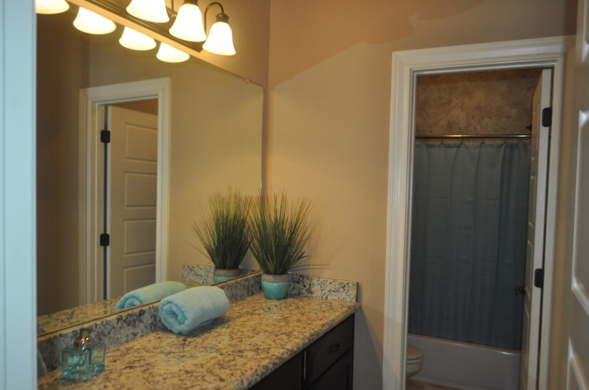 Full Bathroom - shared by bedroom #1 and #2