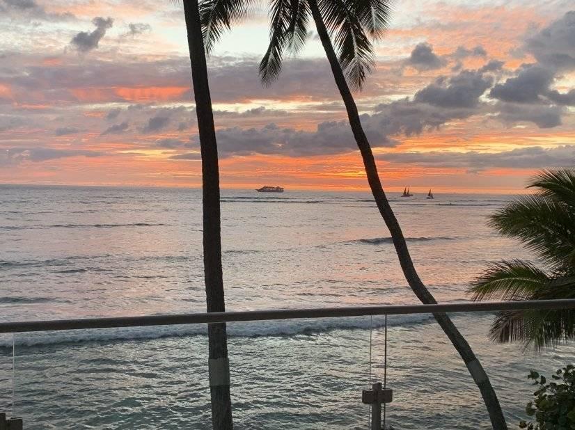 Lanai view of the sunset