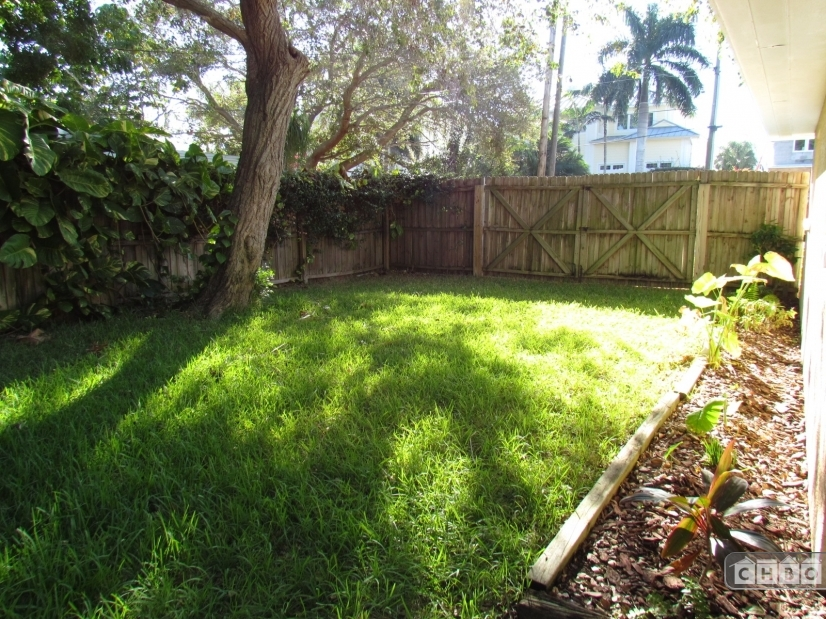 Fenced Yard for Dogs to play or park of boat with double wid