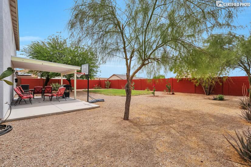 expansive backyard