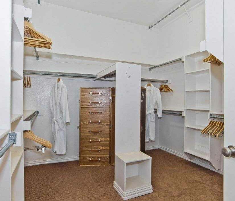 Walk-in Master Closet His & Her Side Built-ins