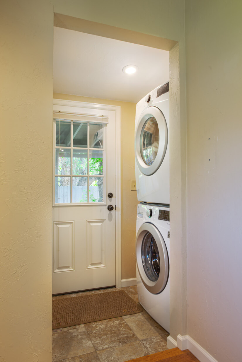 Washer and dryer on site