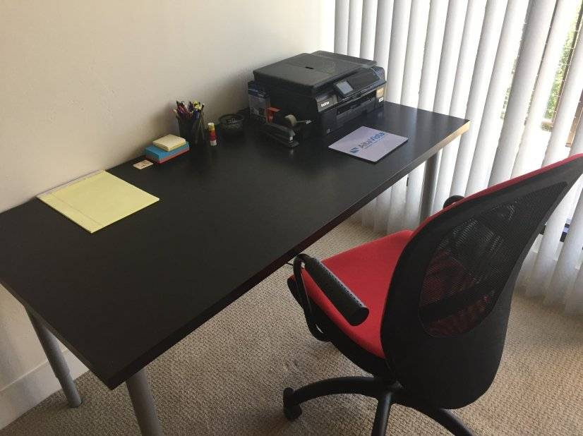 Desk with Printer and High Spped Interent