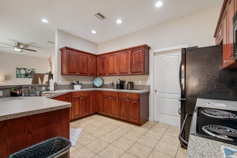 Open and clean kitchen