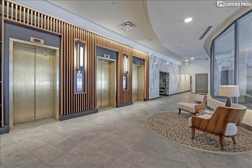 Secure elevators to garage parking and residences