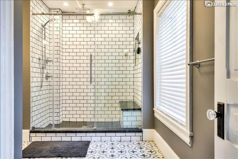 Master Bath Dual Head with Overhead Rain Shower