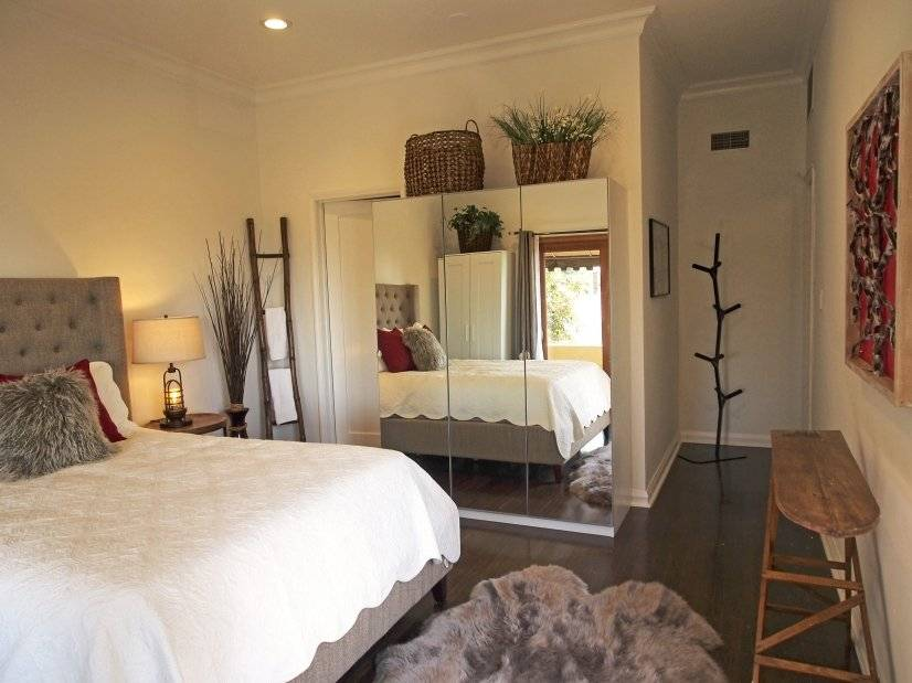 Bedroom with entry view