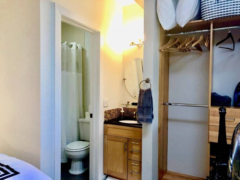 Closet and Soaking Sized Tub