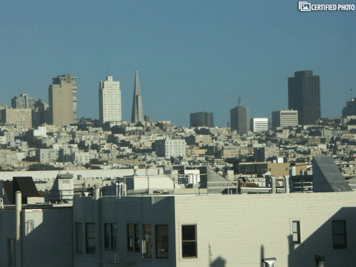 East View of  San Francisco Skyline