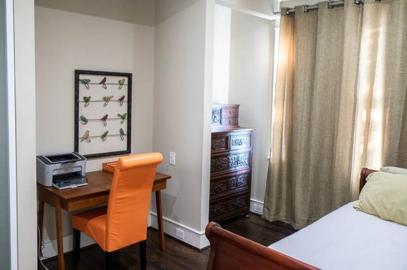 The second bedroom can be an office or sleep one.