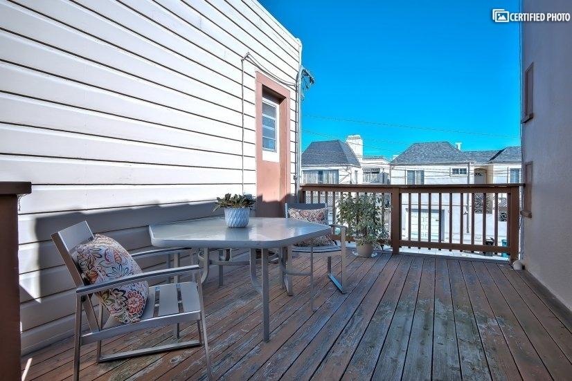 Private patio off the sun room