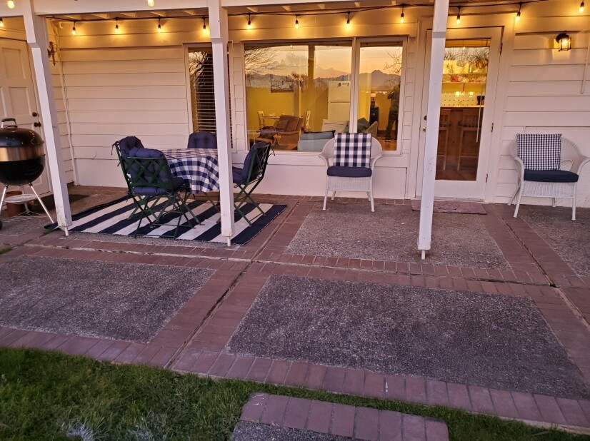 Patio with view and pizza oven/BBQ