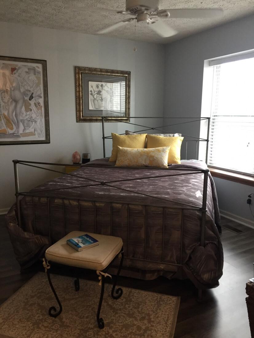 Master bedroom includes a flat screen TV