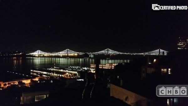 The Bay Bridge Lights.