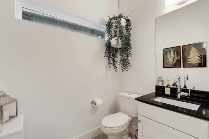 This is the powder room (half bathroom) on th