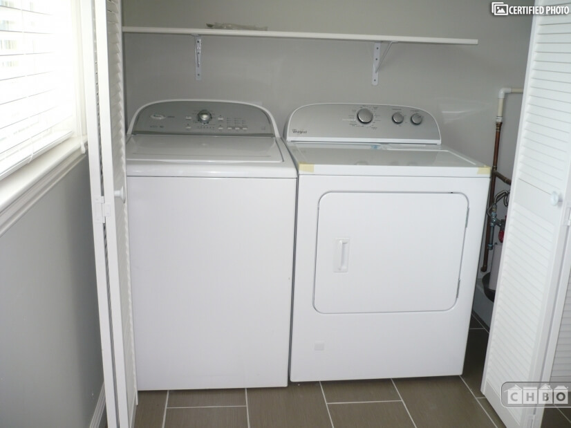 Washer and dryer in extra room