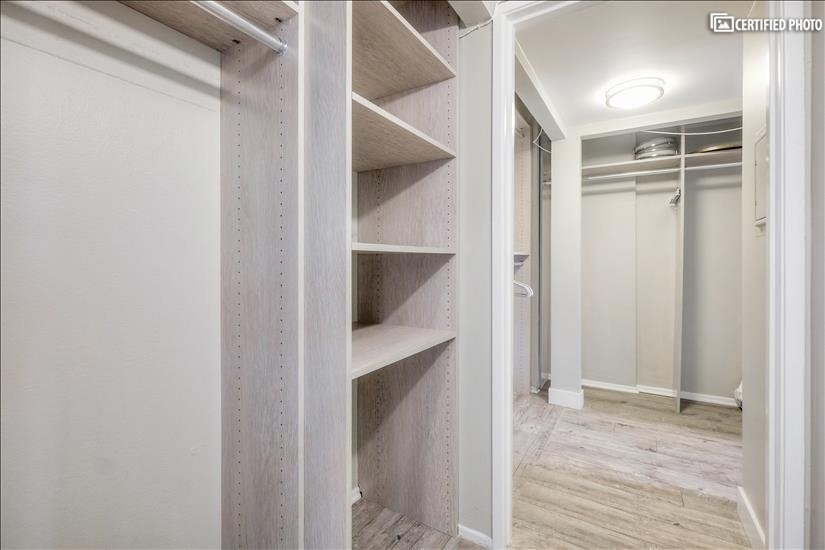 More closet/shelf space