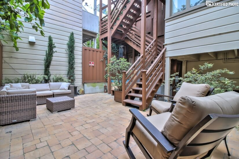 Courtyard for relaxing
