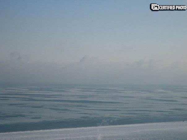 Winter - Lake Michigan frozen over
